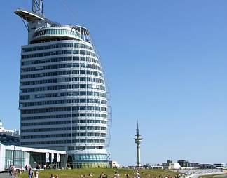 弧形现代大楼建筑图片