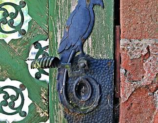 老式木门门锁图片